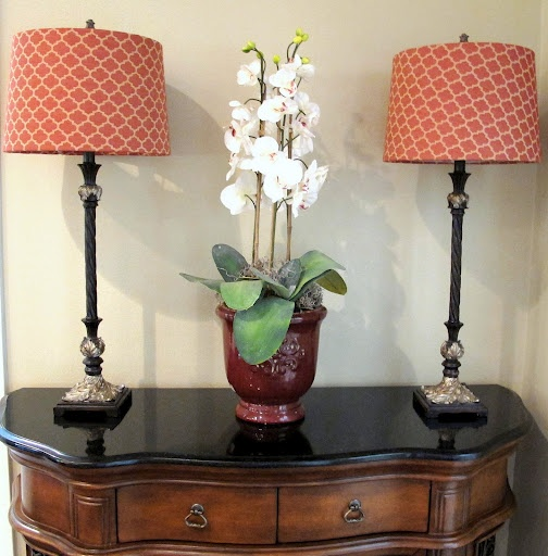 Covering lampshades tutorial.