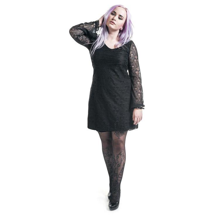 Black Premium by EMP Kort klänning »Lace Sleeve Dress« | Köp i Sweden Rock Shop | Mer kåda Korta klänningar finns online ✓ Oslagbara priser!