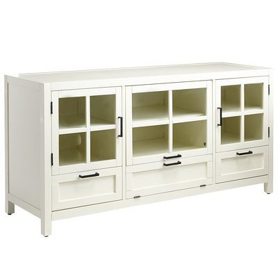 Sausalito Large TV Stand - Antique White