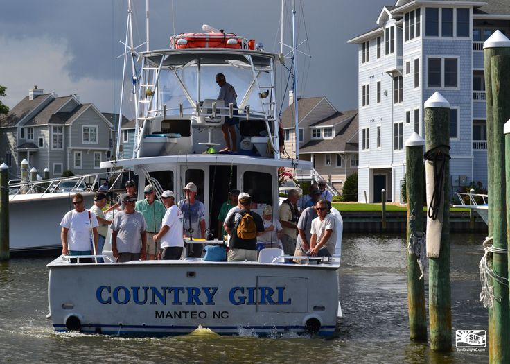 Charter boat fishing at the Outer Banks. This is Country Girl coming in to Pirates Cove Marina from a day of fishing.
