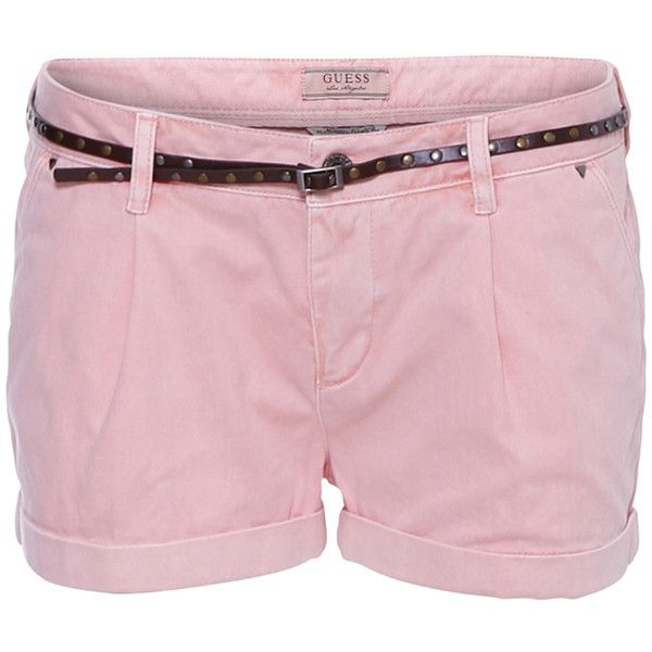 Guess Shorts Talia Light Pink ($105) ❤ liked on Polyvore