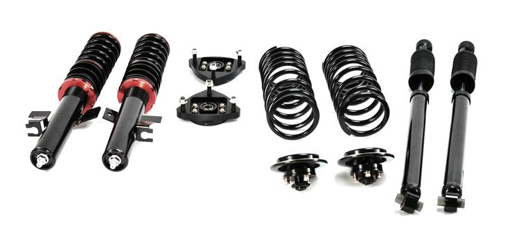 The complete Mazdaspeed 3/Mazda 3 coilover kit for your car.