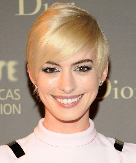 See how Anne Hathaway has taken to life as a blonde!
