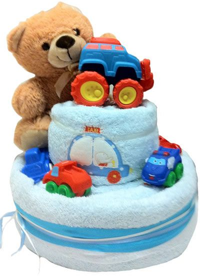 Towel Cake - Cars