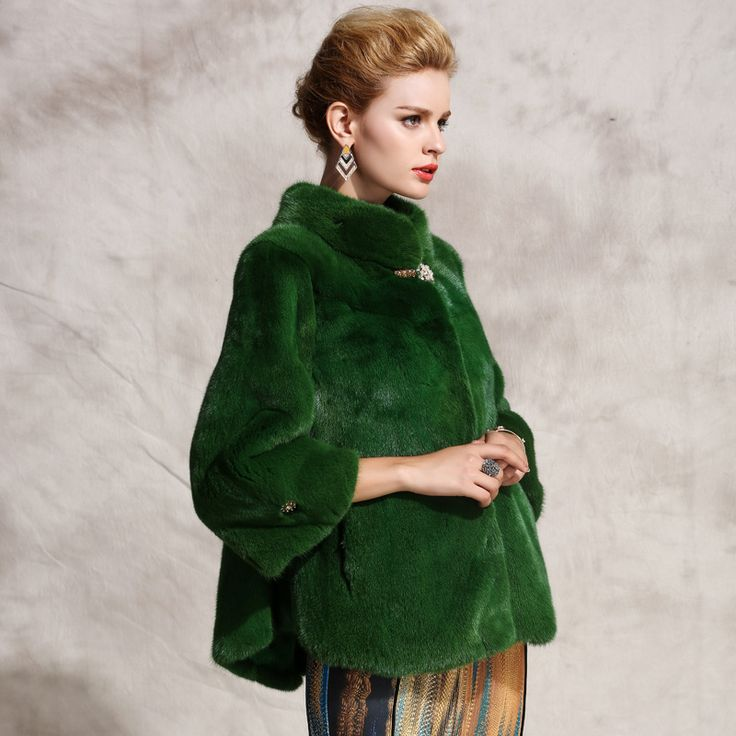 Women's fur coats, green, Mink Fur Coat, collar, slim, natural fur, fur coats,outerwear coats, free shipping-in Fur & Faux Fur from Women's Clothing & Accessories on Aliexpress.com   Alibaba Group