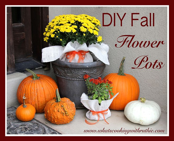 fall flowers pictures   DIY Fall Flower Pots by whatscookingwithruthie.com