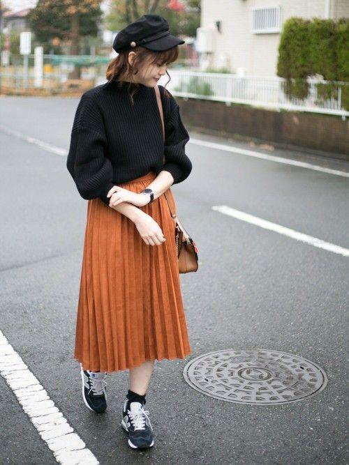 ローリーズのスエードタッチプリーツスカートはセールで2600円でした!! スカーフ付きバッグで少し石