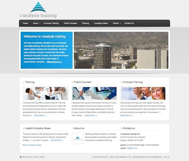 #website and logo for i-analysis training
