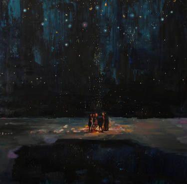 """Saatchi Art Artist Sara Roberts; Painting, """"The Meeting Place"""" #art"""