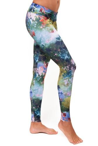 Onzie Hot Yoga Long Legging Glaxy Print - I can't even begin to tell you how badly I want this print.