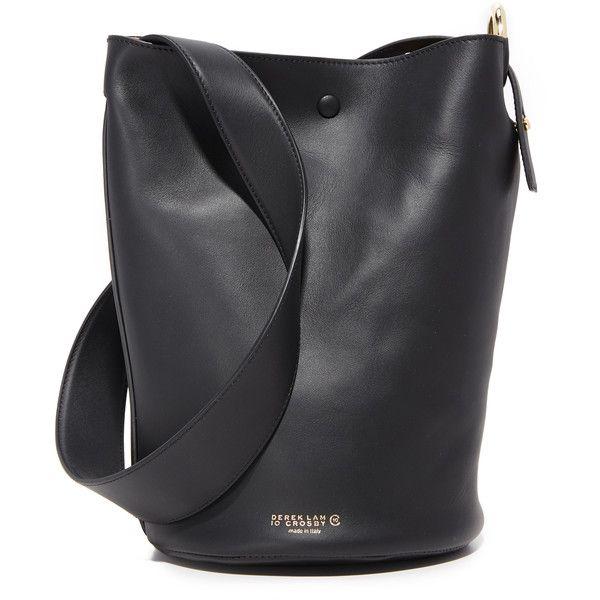 Derek Lam 10 Crosby Grove Bucket Bag ($495) ❤ liked on Polyvore featuring bags, handbags, shoulder bags, bucket bags, gray purse, grey purse, grey shoulder bag and 10 crosby derek lam