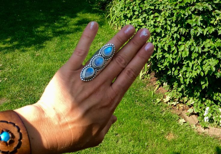 A personal favorite from my Etsy shop https://www.etsy.com/ca/listing/549478877/blue-moonstone-statement-ring-size-8