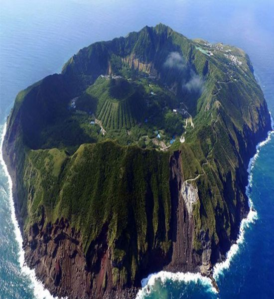 Aogashima is a volcanic Japanese island in the Philippine Sea. The island is administered by Tokyo and located approximately 358 kilometres south of Tokyo and 64 kilometres south of Hachijō-jima.