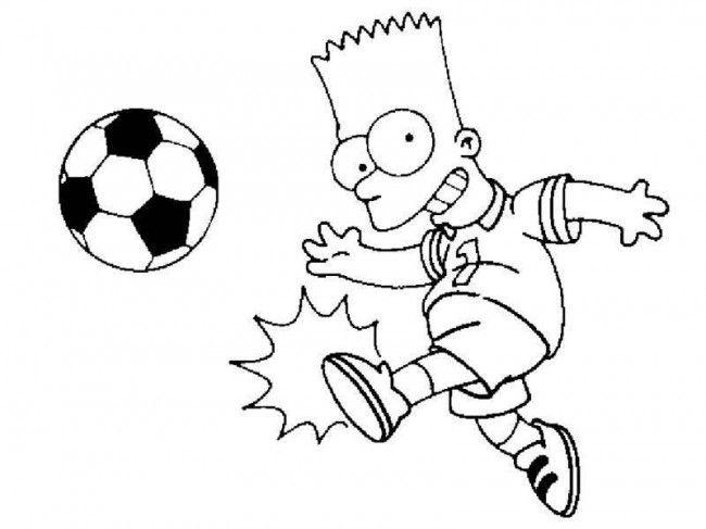 Bart Simpson para imprimir y colorear.
