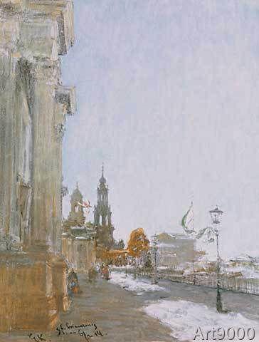 Gotthardt Johann Kuehl - Brühlsche Terrasse in Dresden