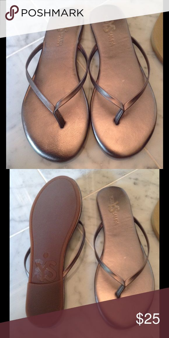 Yosi Samara Pewter Sandals Like new worn maybe twice. Comes with shoe dust bag. Price firm. NO TRADES, Yosi Samra Shoes Sandals