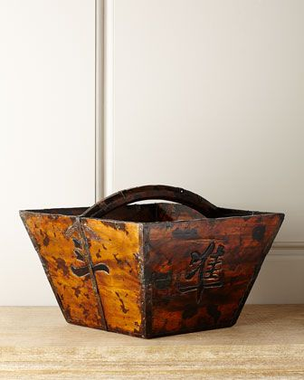 Antique+Wooden+Basket+by+Hang+Fai+at+Horchow.
