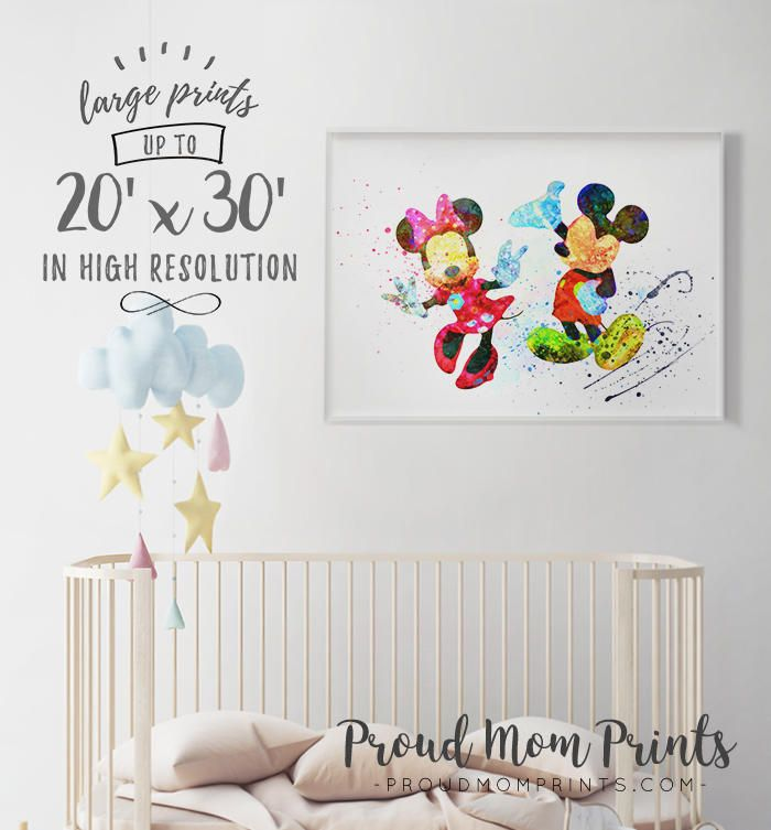 Mickey Minnie Art Mouse Nursery
