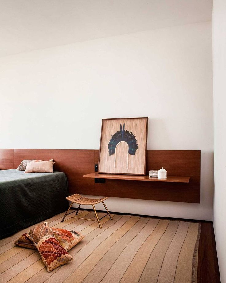 We love the SPenthouse apartment building in São Paulo, designed by Studio MK27. Having an extended wall mounted head board is a great way to either add a feature to your bedroom, create additional shelving and allows you to hide any exposed cables if you are unable to chase them through the wall. It's also a great way to anchor your bed, giving the space more balance and purpose.  #TriibeTips