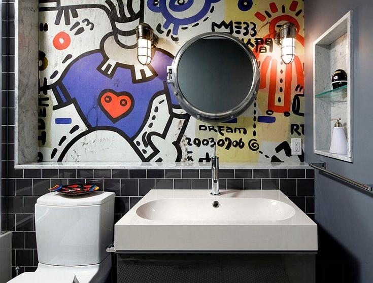 Best Basement Bath Images On Pinterest Basements Bathroom - Wall texture ideas for bathroom for bathroom decor ideas