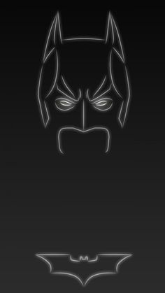 Dark knight the Batman. Tap to see more Superheroes Glow With Neon Light Apple iPhone 6s Plus HD wallpapers, backgrounds, fondos. - @mobile9