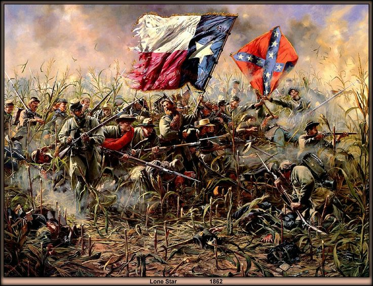 Lone Star, also known as The Cornfield Fighting, by Don Troiani. The Battle of Antietam.