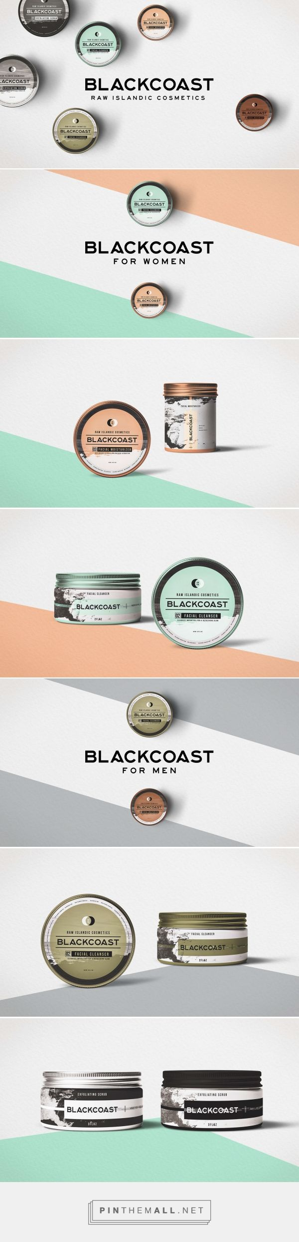 Branding and packaging design for BLACKCOAST // Spring 2016 on Behance by Wyatt Lampley Nashville, TN curated by Packaging Diva PD. A completely organic facial exfoliant that reflected the tough yet nourishing landscape their beloved Iceland.