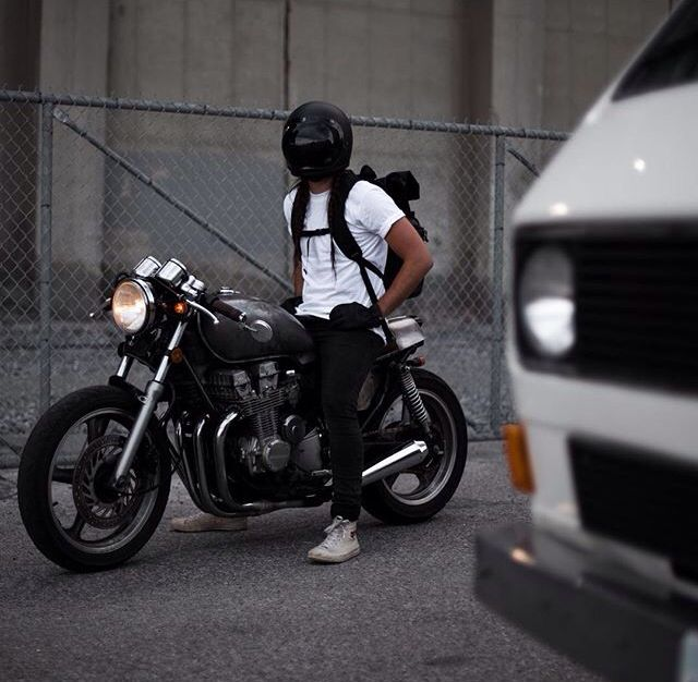 Yup, something about a man wearing a helmet on a motorcycle. Mysteriously hot.