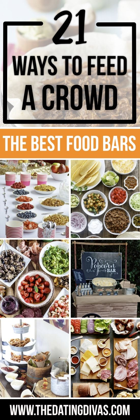 easy ways to feed a crowd from dinner for a crowd pinterest food bars bar and yogurt bar. Black Bedroom Furniture Sets. Home Design Ideas