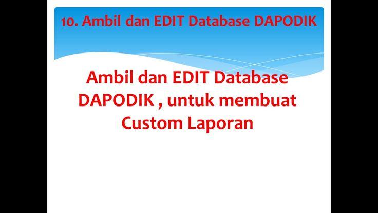 Tips and Trik Dapodik : Ambil dan manfaatkan Database DAPODIK