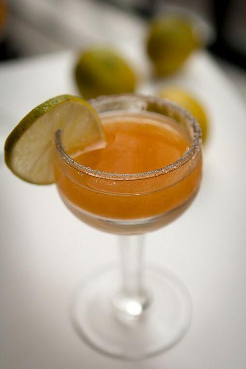Persimmon Margarita. #drinks | Sweet Drinks | Pinterest