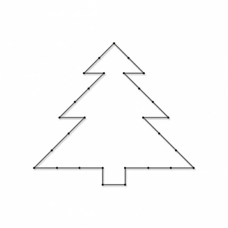 Kerstboom | Spijkerafbeeldingen | spijkerpatroon