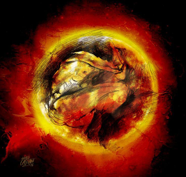 """""""Los hijos de los días"""" - Galeano ilustrado por Casciani 25/12 - acá podés leer el texto: http://andrescasciani.blogspot.com.ar/2016/12/los-hijos-de-los-dias-galeano-ilustrado_0.html"""