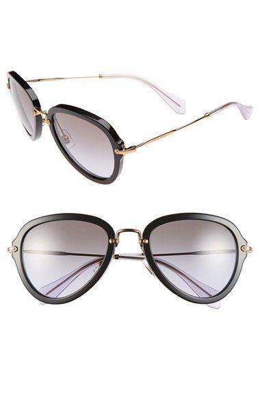 Miu Miu 55mm 'Noir' Sunglasses available at #Nordstrom #wishlist2015