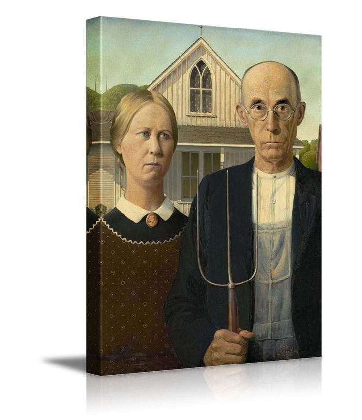 Grant Wood's ambiguous 'American Gothic'