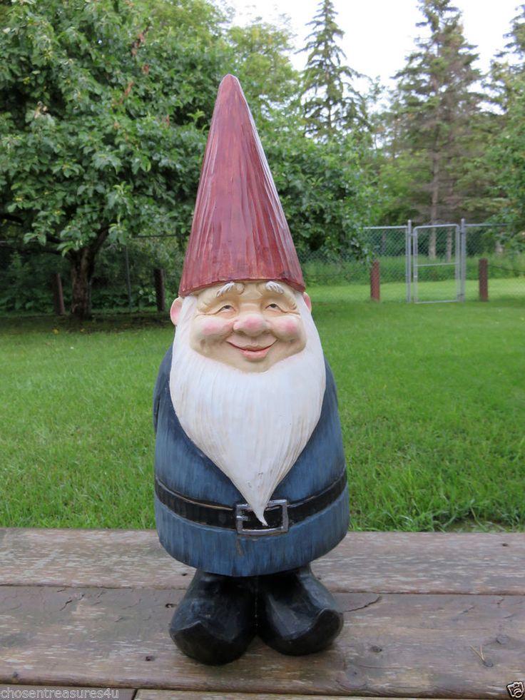 Gnome Garden: WOODLAND GARDEN GNOME 22 In. LAWN ORNAMENT YARD DECOR