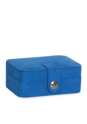 Mele  Co.  Mele  Co. Cate Plush Fabric Travel Jewelry Box in Royal Blu