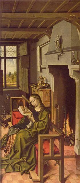 Werl Altarpiece - St. Barbara - Robert Campin