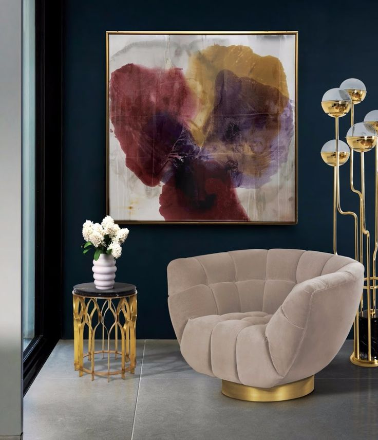 MECCA Side Table | Hospitality Design. Hotel Lobby. Brass. #interiordesign #hoteldesign #coffeetable Find more: https://www.brabbu.com/product/casegoods/mecca-side-table
