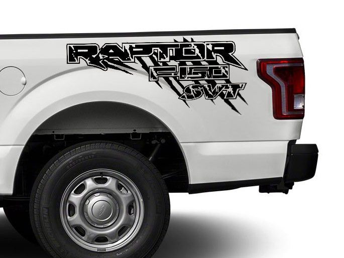 Product Ford Raptor F150 F 150 Svt Distressed Grunge 4x4 Bed Side Graphic Decals Stickers Vinyl Graphics Avery Vinyl Car Wrap Design
