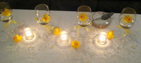 yellow rubber ducks - cute baby shower centerpiece ideas