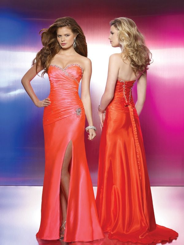 15 besten Orange Evening Dresses Bilder auf Pinterest | Orange ...