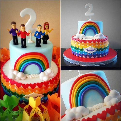 Rainbow Wiggles Cake 2015 | Flickr - Photo Sharing!