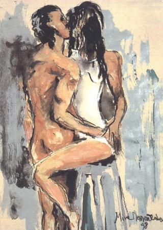 """Mina Papathedorou Valyraki: """"The Kiss"""",  1998"""