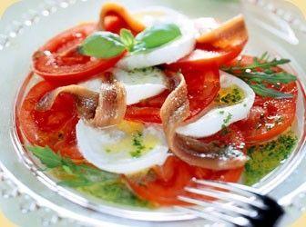 Caprese salade met ansjovis recept - Vis - Eten Gerechten - Recepten Vandaag