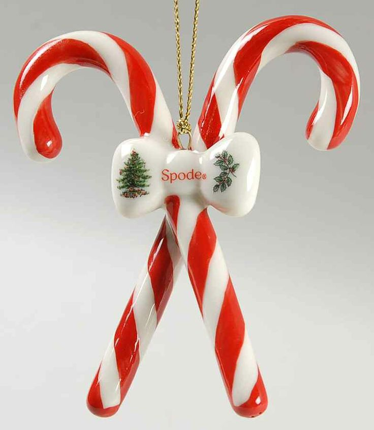 Candy Canes Crossed - Boxed in the Spode Christmas Tree Misc-Orn pattern by  Spode China