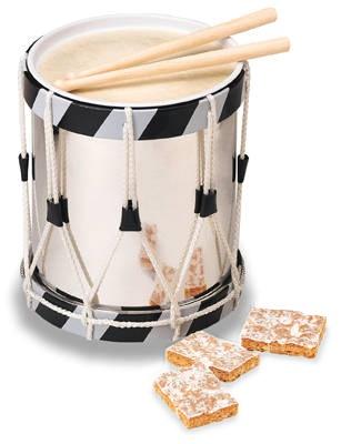 12 Drummers Drumming: Luxus-Trommel, Basler Läckerli Original, 280g - Läckerli Huus AG