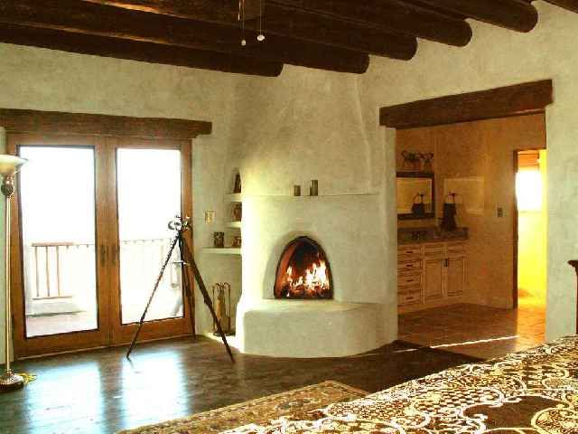 white kiva fireplace - Google Search