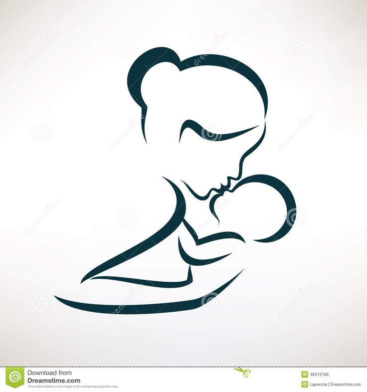 mother-baby-stylized-vector-symbol-mom-outlined-sketch-46412189.jpg (1300×1390)