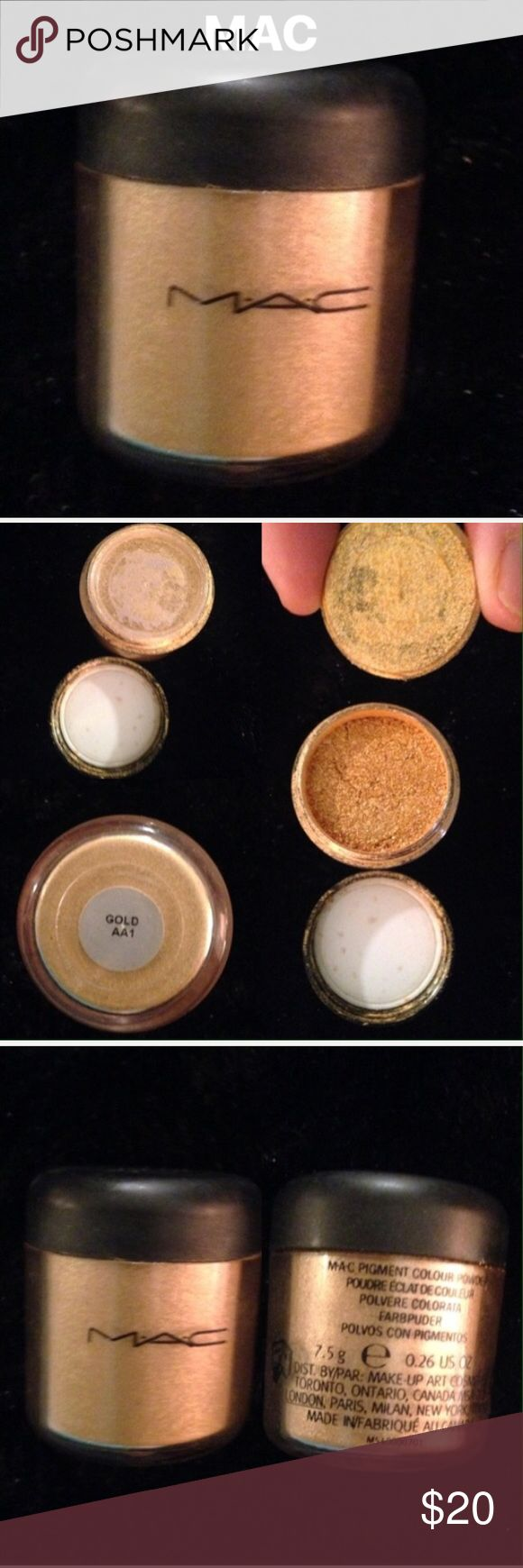 New MAC Gold Pigment Gorgeous Gold used for eyes and or highlighting MAC Cosmetics Makeup Eyeshadow